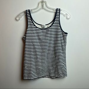 CLEO striped tang top with built in bra size small